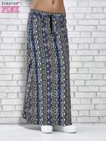 Czarna spódnica maxi w azteckie wzory                                  zdj.                                  2