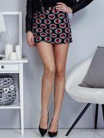Czarna spódnica mini w serduszka                                  zdj.                                  1