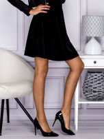 Czarna spódnica z weluru                                  zdj.                                  5