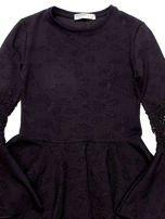 Czarna sukienka dla dziewczynki z szerokimi rękawami                                  zdj.                                  8