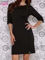 Czarna sukienka dresowa z suwakiem z tyłu                                                                          zdj.                                                                         1