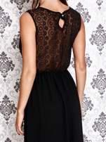 Czarna sukienka maxi z koronkowym tyłem                                                                          zdj.                                                                         6