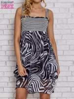 Czarna sukienka przed kolano na cienkich ramiączkach                                  zdj.                                  1