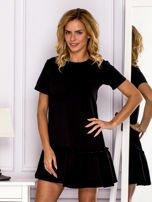 Czarna sukienka z falbaną                                  zdj.                                  1