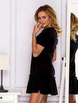Czarna sukienka z falbaną                                  zdj.                                  5