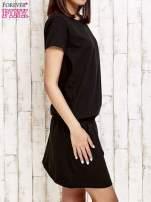Czarna sukienka z kieszonkami                                  zdj.                                  3