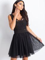 Czarna sukienka z koronkową górą                                  zdj.                                  4