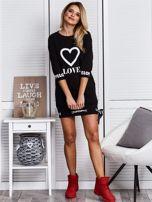 Czarna sukienka z sercem                                  zdj.                                  4