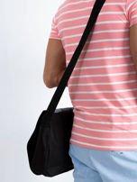 Czarna torba męska na ramię z klapką                                  zdj.                                  2