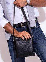 Czarna torba męska z kieszonką na suwak                                  zdj.                                  7