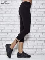 Czarne legginsy sportowe 7/8 z wiązaniem                                  zdj.                                  2