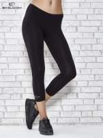 Czarne legginsy sportowe z patką z dżetów na dole                                  zdj.                                  1