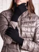 Czarne rękawiczki z długim ściągaczem                                  zdj.                                  1