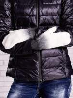 Czarne rękawiczki z dżetami i efektem ombre                                  zdj.                                  3