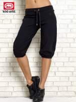 Czarne spodnie capri ze ściągaczem