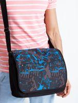 Czarno-niebieska męska torba na ramię                                  zdj.                                  3