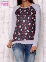 Czarno-szara bluza z nadrukiem pand