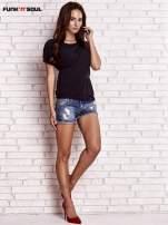 Czarny asymetryczny t-shirt z zapięciem na plecach FUNK N SOUL                                  zdj.                                  4