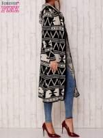 Czarny długi sweter motywy geometryczne                                  zdj.                                  4