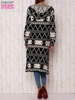 Czarny długi sweter motywy geometryczne                                  zdj.                                  5
