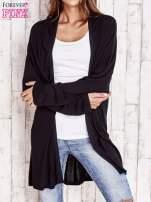 Czarny długi sweter z tiulowym wykończeniem                                  zdj.                                  1