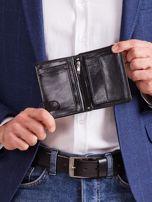 Czarny męski portfel z tłoczeniem                                  zdj.                                  3