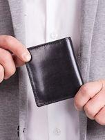 Czarny pionowy elegancki skórzany portfel                                   zdj.                                  4