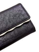 Czarny portfel z ozdobną aplikacją                                                                          zdj.                                                                         6