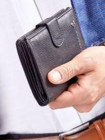 Czarny rozkładany portfel ze skóry                                  zdj.                                  11