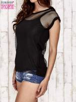 Czarny siatkowy t-shirt                                   zdj.                                  3