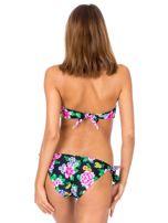 Czarny strój kąpielowy bikini w kwiaty                                  zdj.                                  3