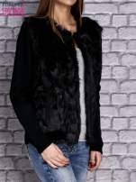 Czarny sweter z futerkiem                                  zdj.                                  3