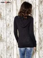 Czarny sweter z kapturem zasuwany na suwak Funk n Soul                                                                          zdj.                                                                         4