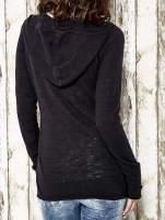 Czarny sweter z kapturem zasuwany na suwak Funk n Soul                                  zdj.                                  6