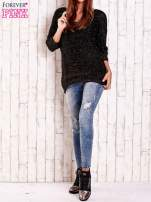 Czarny sweter z metaliczną nicią FUNK N SOUL