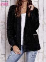 Czarny sweter ze złotymi suwakami                                                                          zdj.                                                                         1