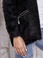Czarny sweter ze złotymi suwakami                                                                          zdj.                                                                         7