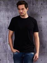 Czarny t-shirt męski                                   zdj.                                  1