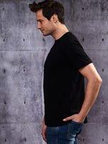 Czarny t-shirt męski                                   zdj.                                  3