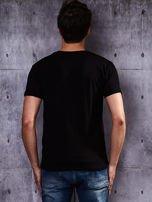 Czarny t-shirt męski basic                                  zdj.                                  2