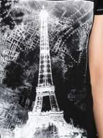 Czarny t-shirt z nadrukiem wieży Eiffla                                                                          zdj.                                                                         8