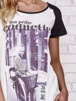 Czarny t-shirt z napisem MA PETITE COQUETTE                                                                           zdj.                                                                         5