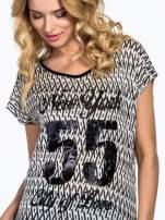 Czarny t-shirt z napisem NEW YORK CITY OF LOVE 55