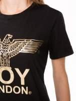 Czarny t-shirt ze złotym nadrukiem orła i napisem BOY LONDON                                  zdj.                                  9