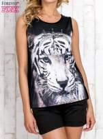 Czarny top z motywem tygrysa                                                                          zdj.                                                                         1