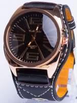 Czarny zegarek męski RETRO