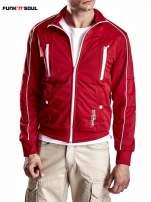 Czerwona bluza męska z kieszeniami na suwak Funk n Soul                                  zdj.                                  6