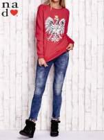 Czerwona bluza z godłem                                  zdj.                                  2