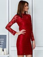 Czerwona elegancka koronkowa sukienka                                  zdj.                                  5