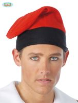 Czerwona katalońska czapka męska na imprezę